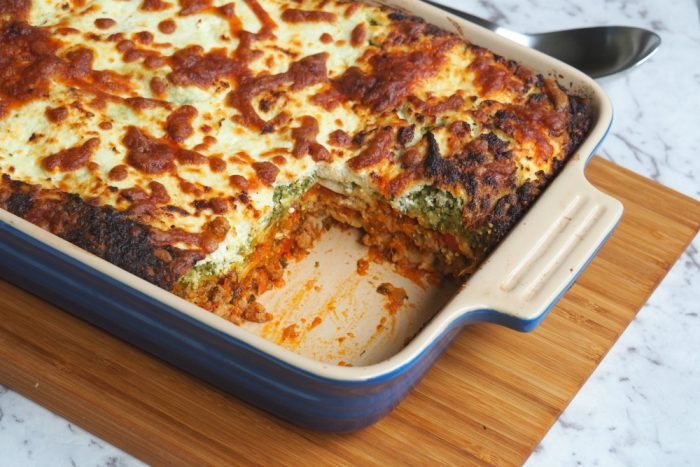 Turkey pesto and ricotta lasagne 3