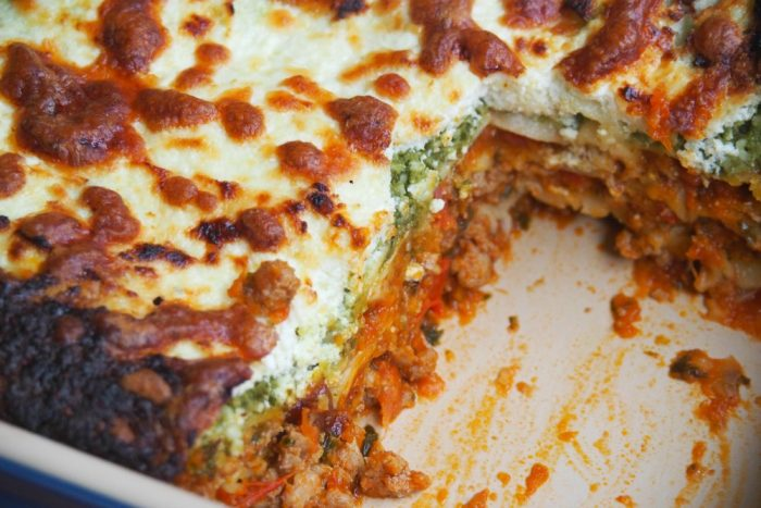 Turkey pesto and ricotta lasagne 4
