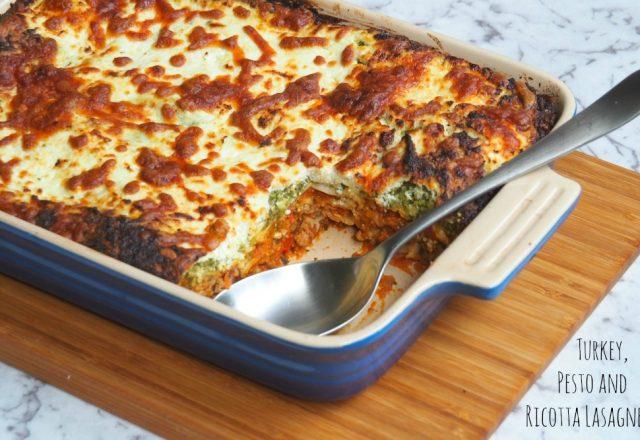 Turkey, Pesto and Ricotta Lasagne