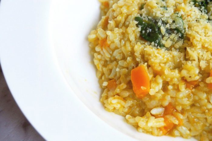 Thermomix Pumpkin and Spinach Risotto 4