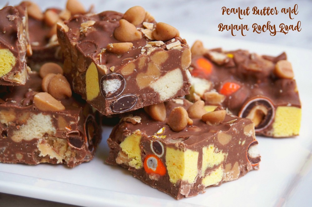 Peanut Butter and Banana Rocky Road