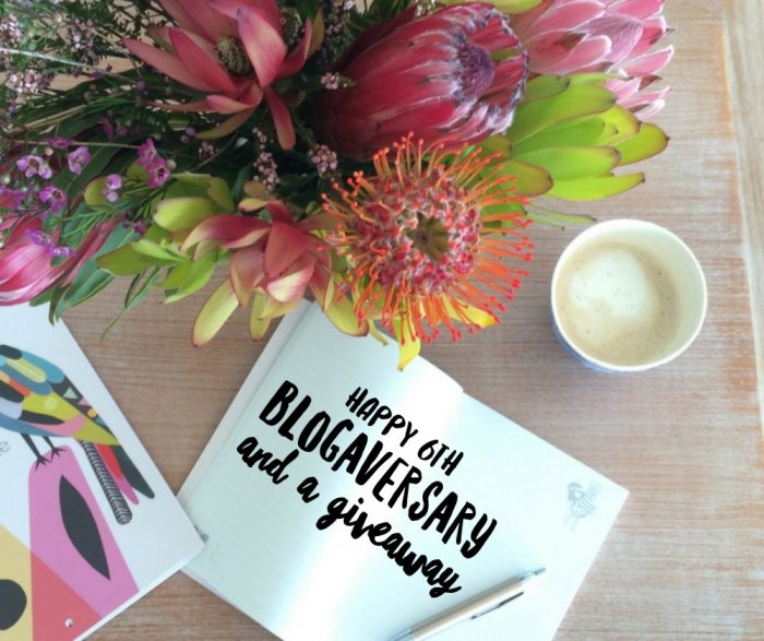 6th blogaversary and giveaway