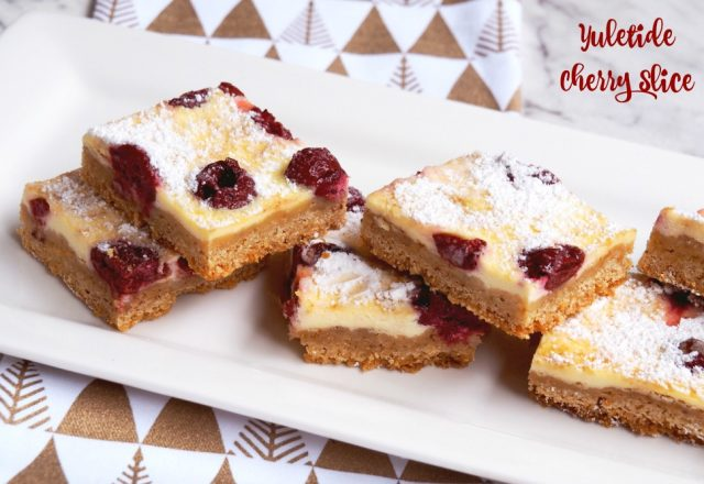 Yuletide Cherry Slice