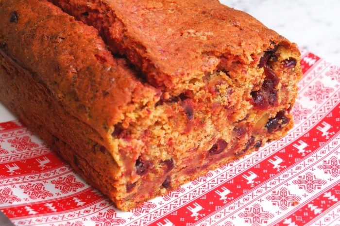 Beetroot, Cranberry and Zucchini Loaf 3