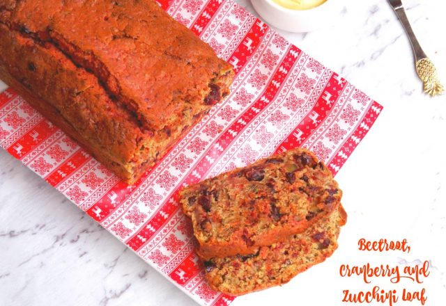 Beetroot, Cranberry and Zucchini Loaf