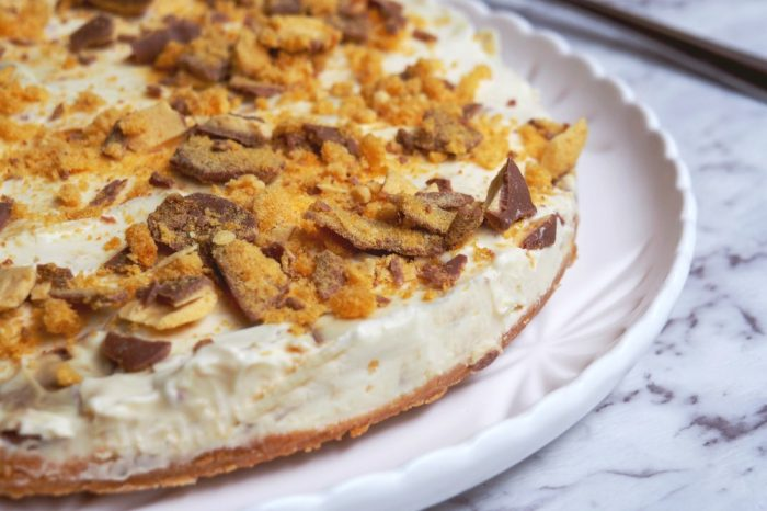 No Bake Crunchie Cheesecake 3