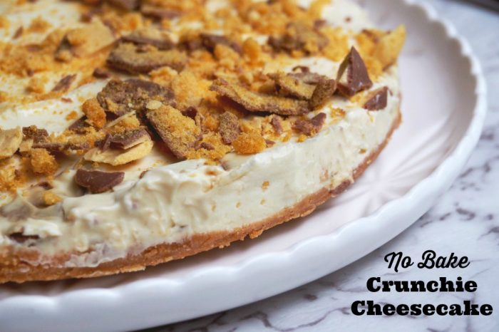 No Bake Crunchie Cheesecake