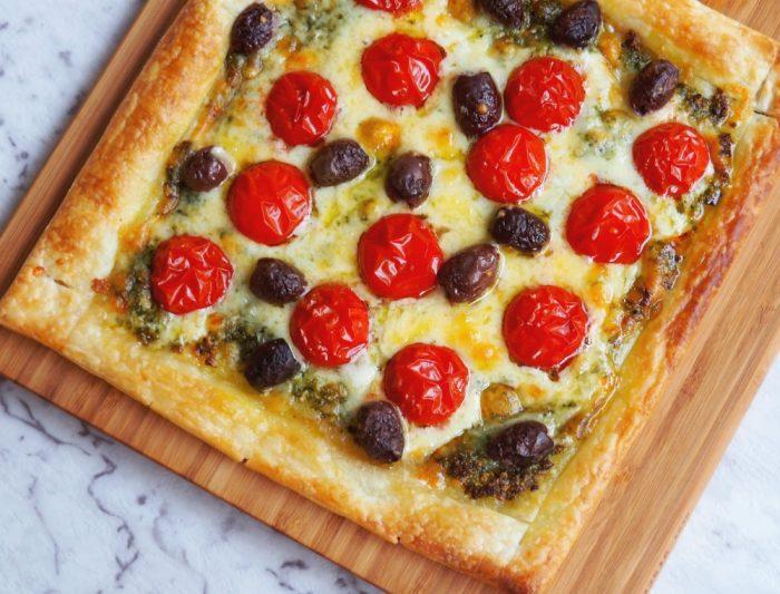 Easy Cheese and Pesto Tart 4