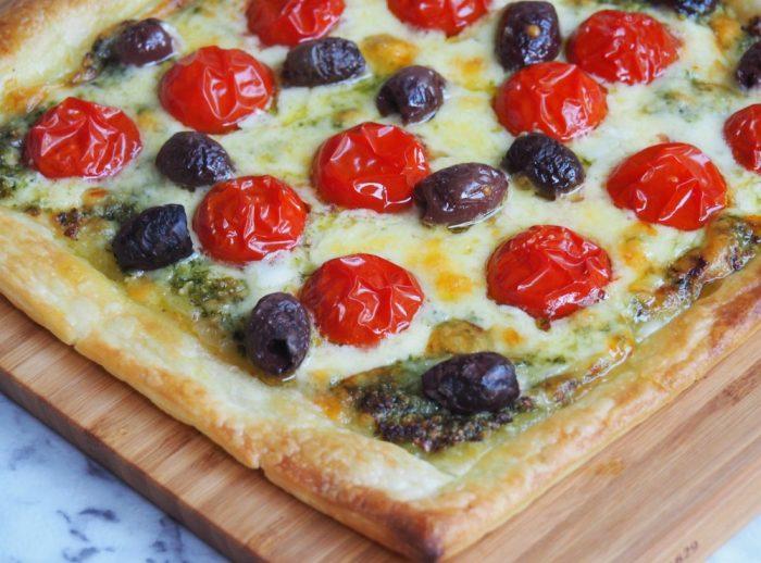 Easy Cheese and Pesto Tart 2