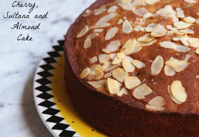 Cherry, Almond and Sultana Cake