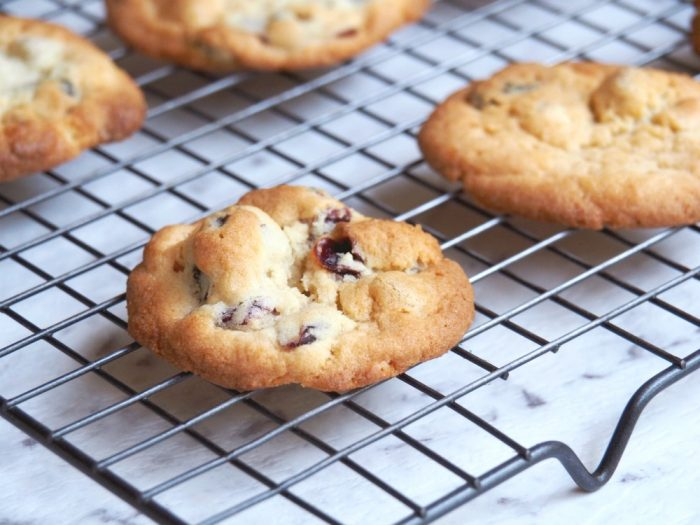 Gooey Chocolate and Cranberry Cookies 4