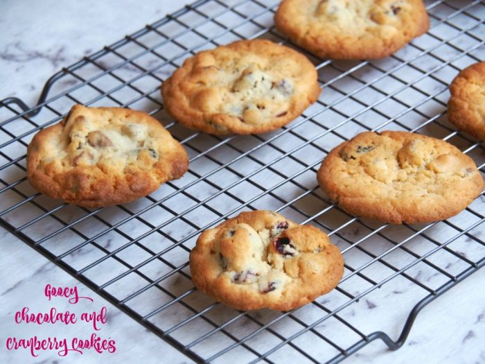 Gooey Chocolate and Cranberry Cookies 2