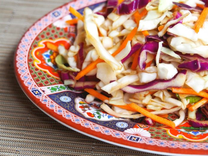 Asian Coleslaw with Healthy Dressing 2