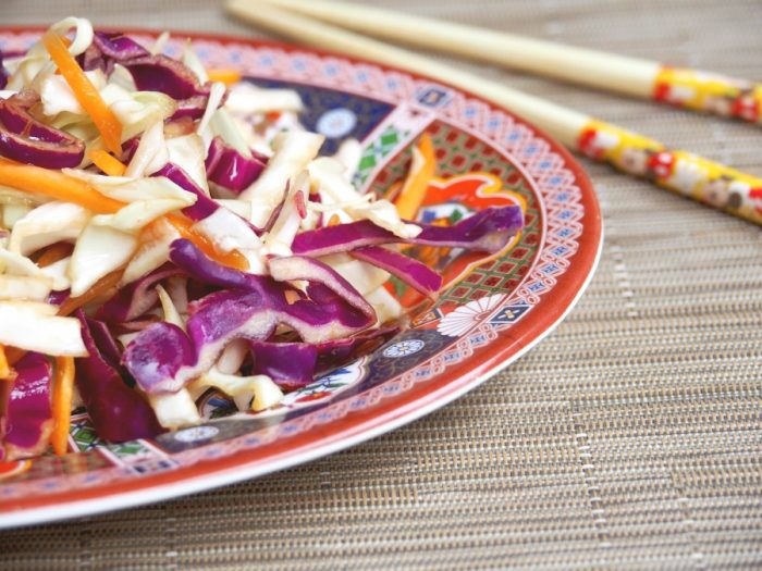 Asian Coleslaw with Healthy Dressing 1