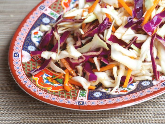 Asian Coleslaw with Healthy Dressing 3