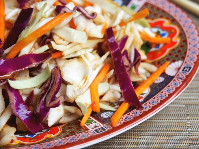 Asian slaw with soy dressing 4