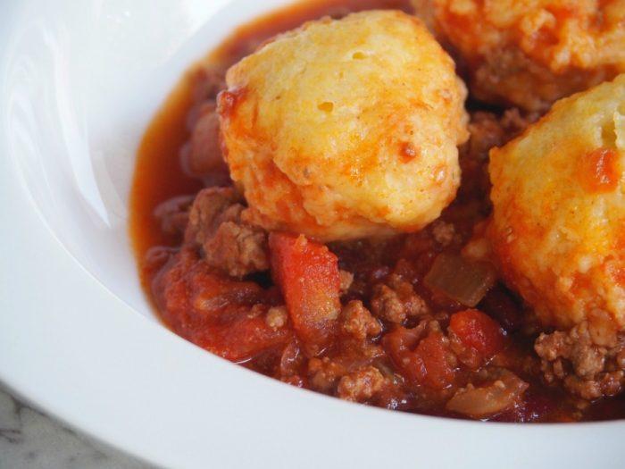 Chilli Beef with Cornbread Dumplings 6