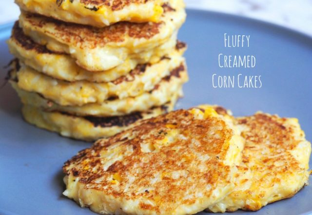 Meatless Monday – Fluffy Creamed Corn Cakes