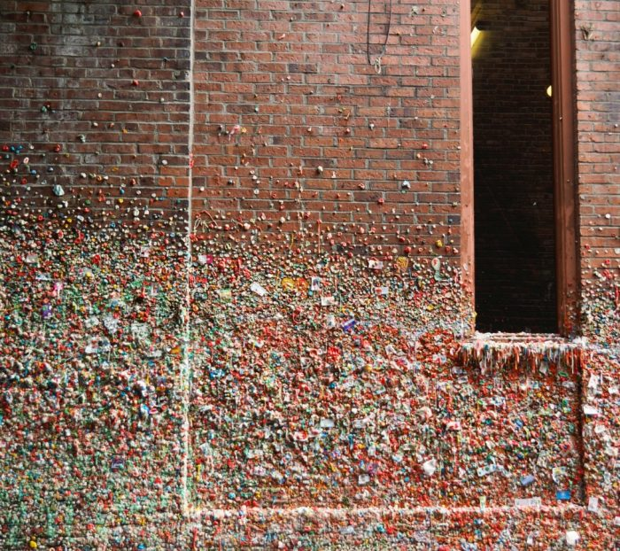 Things to do in Seattle - Pike Place Market gum wall