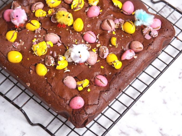 Salted Caramel and Mini Egg Brownies