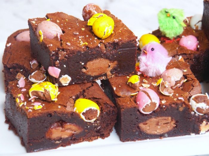 Salted Caramel and Mini Egg Brownies 2