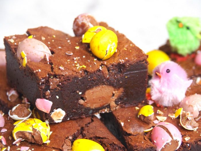 Salted Caramel and Mini Egg Brownies 8
