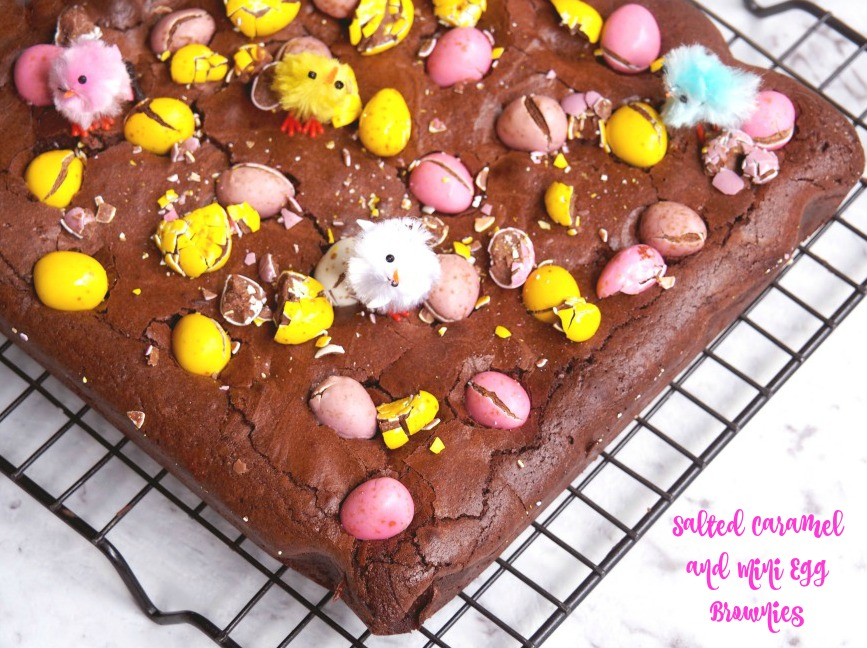 Salted Caramel and Mini Egg Brownies 6