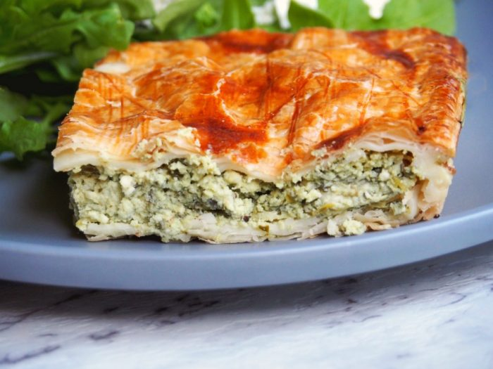 Easy Spinach Ricotta and Feta Pie 5