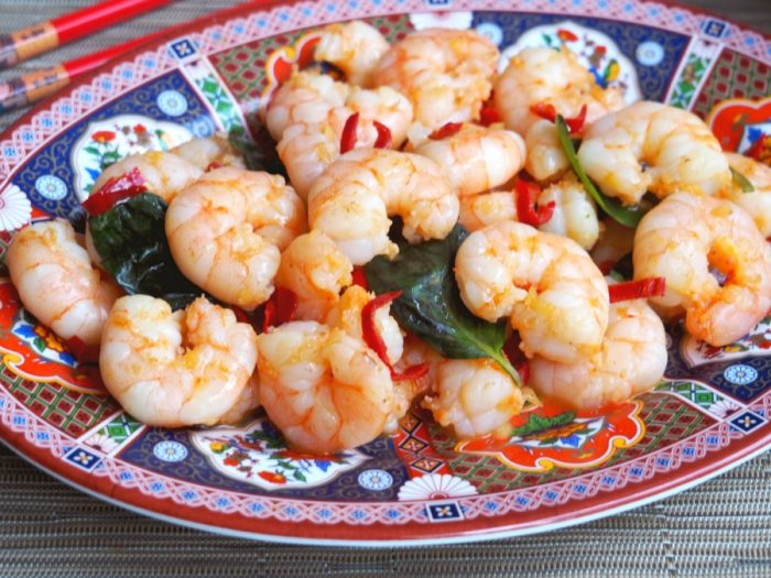 Chilli Basil Prawn Stir Fry2