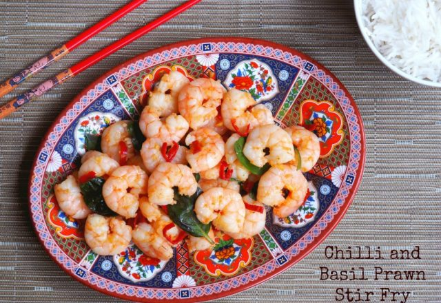 Chilli and Basil Prawn Stir Fry