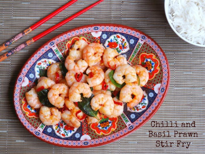 Chilli Basil Prawn Stir Fry