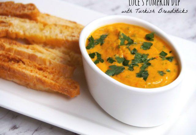 Meatless Monday – Luce's Pumpkin Dip with Turkish Breadsticks