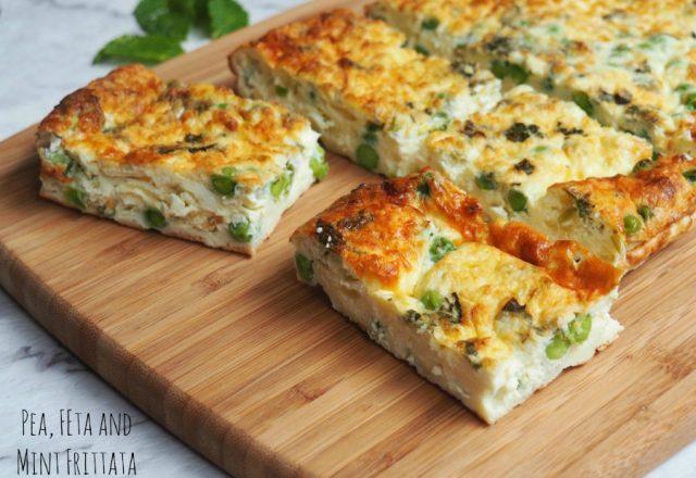 Meatless Monday: Pea, Feta and Mint Frittata