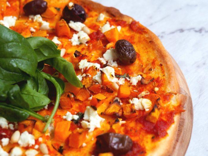 Pumpkin, Feta and Pine Nut Pizza 4