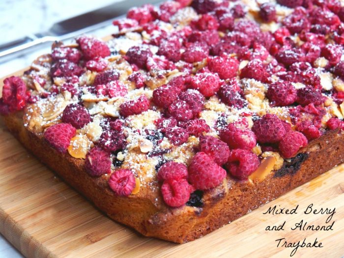 Mixed Berry and Almond Traybake