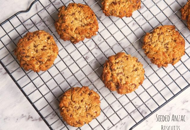 Seeded Anzac Biscuits