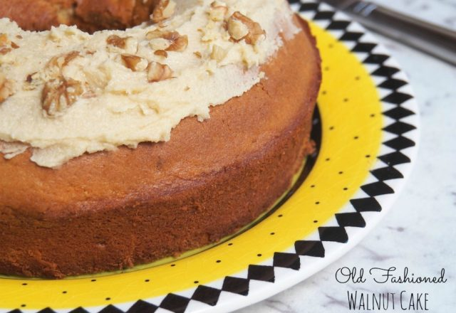 Old Fashioned Walnut Cake
