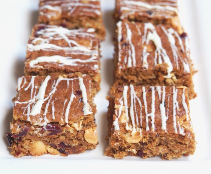 Cranberry and White Chocolate Anzac Slice 5