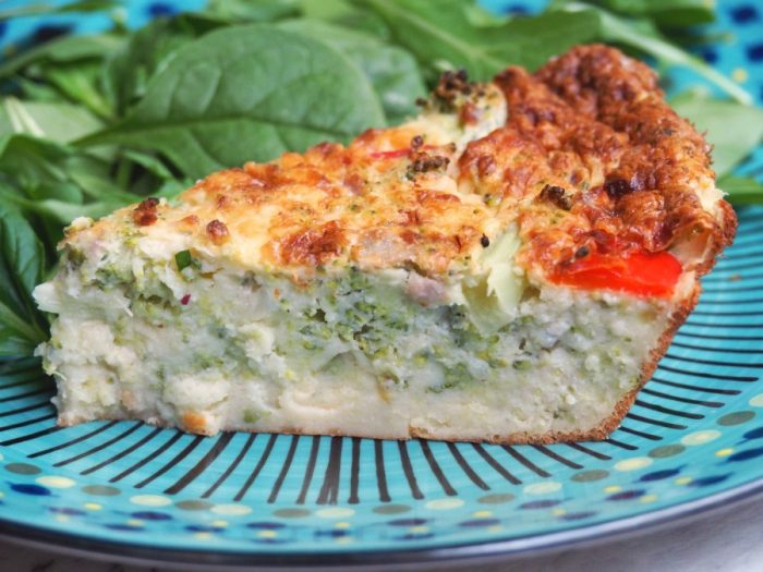 Broccoli and Capsicum Crustless Quiche 3