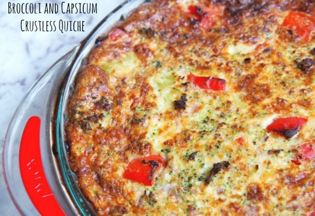 Meatless Monday – Broccoli and Capsicum Crustless Quiche