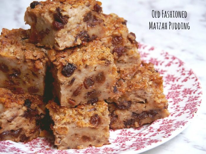 Old Fashioned Matzah Pudding 4