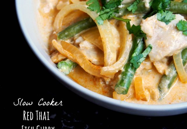 Slow Cooker Red Thai Fish Curry