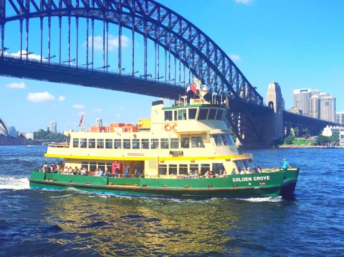 What to see and do in Sydney - Barangaroo ferry