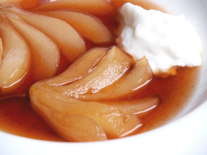 Slow cooker Blushing Pears 4