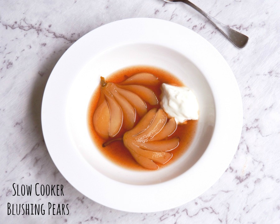Slow Cooker Blushing Pears