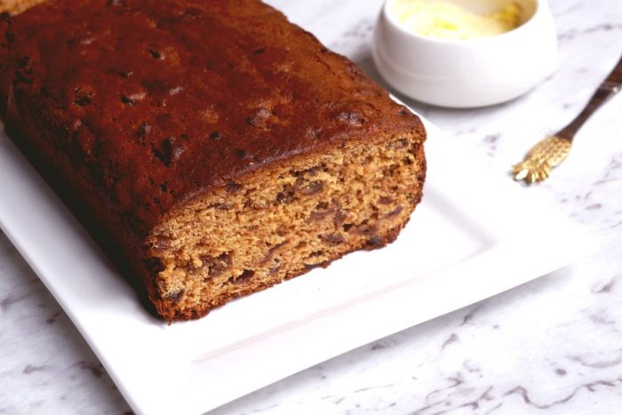 Banana, date, cherry and walnut loaf 6