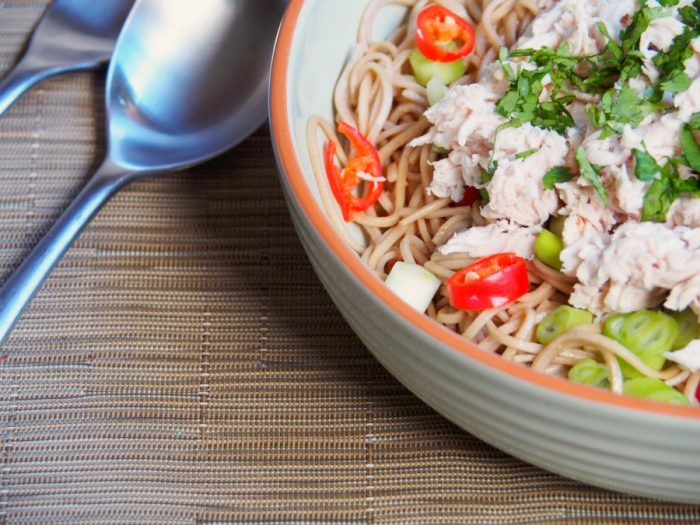 cold chicken noodle salad 1