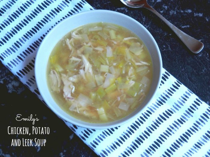 Emily's Chicken, Leek and Potato Soup 3