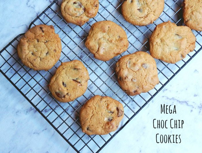 Mega Choc Chip Cookies 4