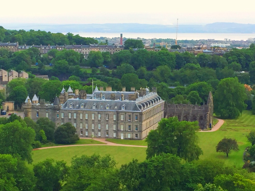 48 hours in Edinburgh - Hollyrood Palace from Salisbury Scrag